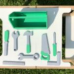 caja de herramientas de madera