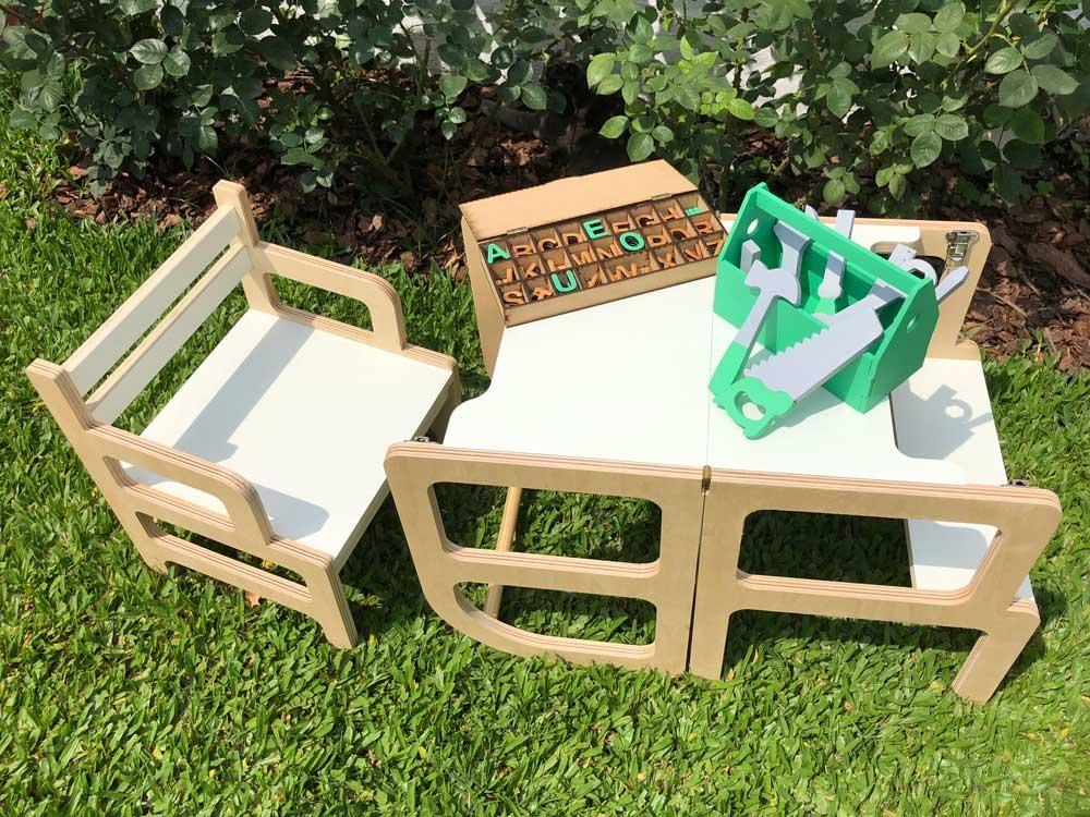 Torre de aprendizaje montessori, juegos y herramientas muebles para la infancia irqichay