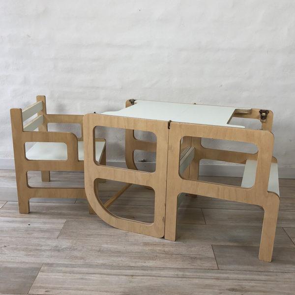 torre de aprendizaje y silla irqichay - muebles apra chicos inspirados en pedagogia montessori y Waldorf