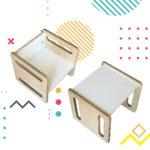 combo silla de tres posiciones felipe, muebles inspirados en pedagogia montessori, muebles intantiles Irqichay