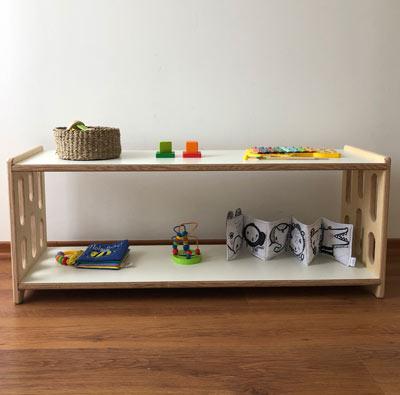 mueble bajo inspirado en pedagogia montessori