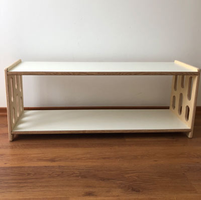 mueble bajo inspirado en pedagogia monbtessori