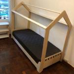 cama montessori 1 plaza estilo casita