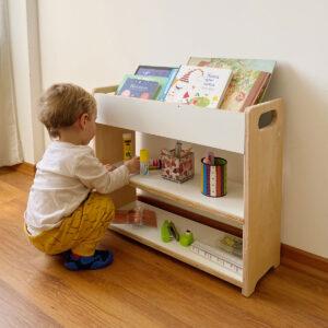 mueble organizador de libros y estantes