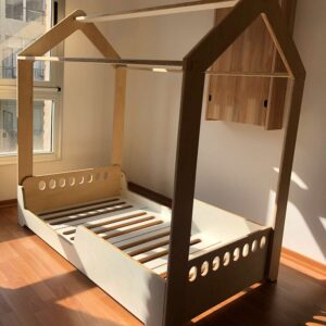 Cama montessori al ras del suelo cama casita irqichay montessori argentina