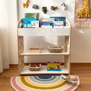 mueble organizador montessori librero irqichay